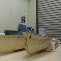 軽巡夕張&駆逐艦天津風 両艦とも結構進めましたよ~