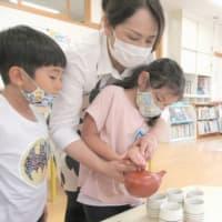 7月2日 印野こども園で、日本茶教室
