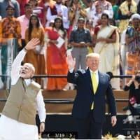 インド  モディ首相、トランプ大統領を熱烈歓迎  国内では国籍法改正への批判で大荒れ