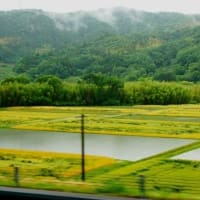 岐阜へバス旅行の車窓