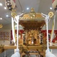 渚の駅たてやまで後藤利兵衛橘義光のお神輿の展示