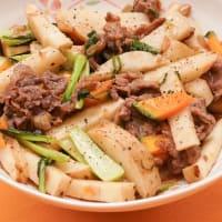2019.09.18の夕食 牛肉と野菜の炒め物