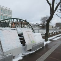 We walked from Asahi River to Akita City Office