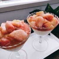 「桃のパンナコッタ」