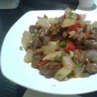 西安名物料理お勧め⑧大根とサーロインの炒め物