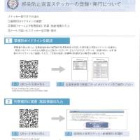 大阪市買い物応援キャンペーン対象になるように2つ目の条件をクリアするため、感染防止宣言ステッカーを打ち出して、入口のドアに掲示しました。