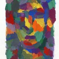 「習作」色を使う練習(アクリル画)
