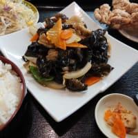 台湾料理 弘祥「キクラゲと豚肉炒め定食」