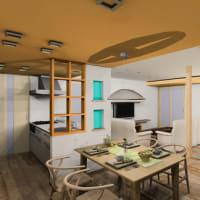 (仮称)時間の流れとルーツを豊かに感じる郊外に佇む平屋の家リノベーション設計デザイン打ち合わせ、LDKや和室、インテリアの融合と色と素材のイメージで和モダン空間融合意識を。