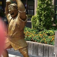 訪問先は亀有駅  ブロンズ像は修復されてたね