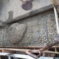 進入路の拡張コンクリート打ち