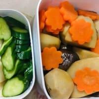 気まぐれベジタ玄米弁当🍱 メインがハンバーグトマトソースがけ(⋈◍>◡<◍)。✧♡