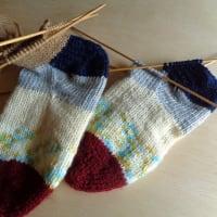 手編みの靴下 その後