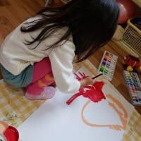 サンタさんを描きました