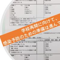 学校再開に向けての全国の保健室での取り組み(北海道~沖縄の事例を集めました)
