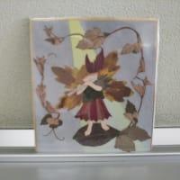 秋の音色(メロディー)押し花