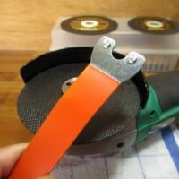 取付けナットを加工する 充電式サンダー KIMO