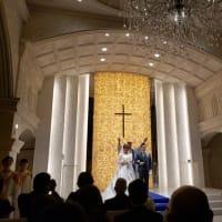 「久々の教会結婚式、出席」