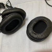 ヘッドホン SONY MDR-CD900STのイヤーパッドを交換した。
