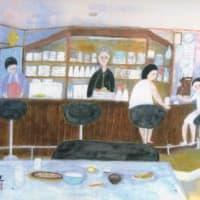 喫茶C店内風景(スケッチ&コメント)