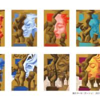 「サロン」展示9〜16(アクリル画)