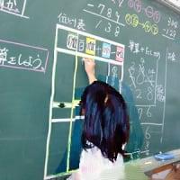 算数の黒板は、子供たちが作る