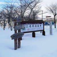 新しい掲示物が一点。「北海道遺産 史跡国泰寺跡」