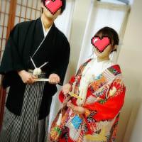 花嫁さん&花婿さん着付モデルモニターさんです(^^♪