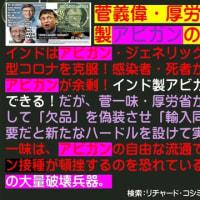 フライヤー:菅義偉・厚労省一味が、インド製アビガンの個人輸入を妨害!