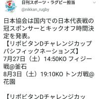 ラグビー日本代表戦