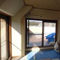 岡山市北区マンション内装工事現場で中間検査