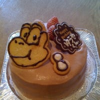 春の訪れと お誕生日ケーキ