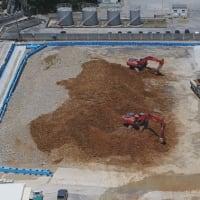 琉球セメント安和桟橋敷地内への埋立土砂「仮置」問題について沖縄県北部保健所長と交渉 --- 赤土条例に基づく、県の立入調査、改善命令を拒否し続ける琉球セメントと防衛局