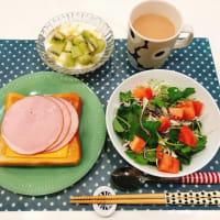 ハムチーズトーストで朝ごはんと、三つ葉が安すぎます!