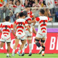 ラグビー日本勝った