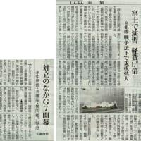 #akahata 富士で演習 経費1.7倍/自衛隊 戦争法下で規模拡大・・・今日の赤旗記事
