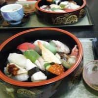 寿司ランチとかき氷
