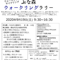 40/20kmウォーク中止のお知らせ&ぶな森ウォークリングラリー開催!