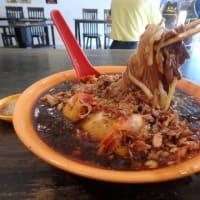 SS20の「春エビ麺」:「春蝦麺」「パラマウント・ガーデン」にて万歳。