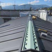 勘合式竪平葺きで屋根を仕上げています ・・・ C様邸新築工事 No.17