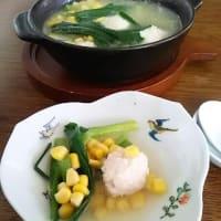 夜食に手軽な、菜の花つくね鍋・シャンタン鍋を創る
