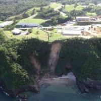 沖縄ドローンプロジェクト提供ー辺野古弾薬庫そばの崖崩れ写真