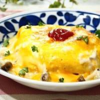 たっぷりチーズの♪オムライスドリア&コールスローサラダ♪