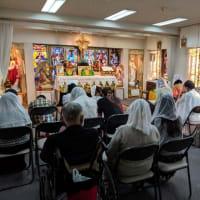 2019年8月11日(主日)大阪の聖母の汚れなき御心聖堂の夕方6時のミサ