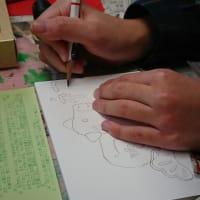 年賀状作り🐮 前橋校