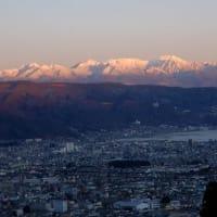 八ヶ岳のモルゲンロートとアーベントロート