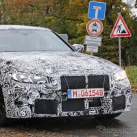 【BMW】最終デザインが見えてきた!?次期型「M3」の巨大グリルをチラ見せ!