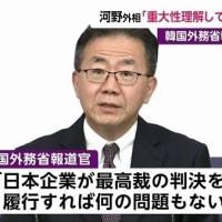 韓国「日本が賠償に応じるべき」!康京和「日本も努力を」・河野「事の重大性理解せぬ大変な発言」