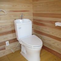 ログハウス風トイレ完成