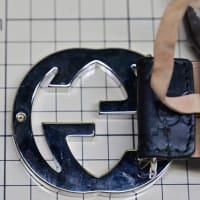 グッチ インターロッキング ベルト修理